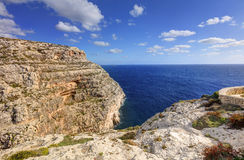 HDR photo of Blue Grotto area in Malta, Europe Royalty Free Stock Image