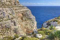 HDR photo of Blue Grotto area in Malta, Europe Stock Images