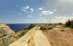 HDR photo of Blue Grotto area in Malta, Europe Stock Photography