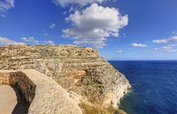 HDR photo of Blue Grotto area in Malta, Europe Royalty Free Stock Photography