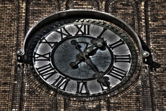 HDR photo of the clock of the Evangelical Christ' Church in Ostrava CZ Royalty Free Stock Images