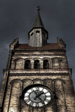 HDR photo of the clock tower of the Evangelical Christ' Church in Ostrava CZ Stock Photos