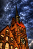 HDR photo of the of the Evangelical Christ' Church in Ostrava CZ Stock Photos