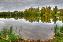 HDR photo of finnish scenery Royalty Free Stock Image