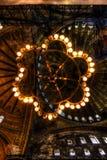 HDR photo of the Hagia Sophia (Ayasofya) interior Royalty Free Stock Photography