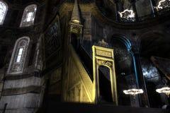 HDR photo of the Hagia Sophia (Ayasofya) interior Stock Photos