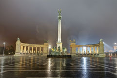 HDR photo of the Heroes square in Budapest, Hungary Royalty Free Stock Photos