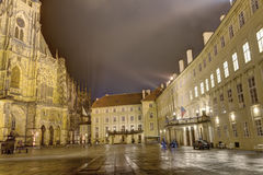 HDR photo of the Inner yard of the Prague castle Royalty Free Stock Photography