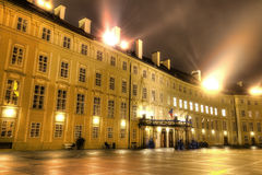 HDR photo of the Inner yard of the Prague castle Royalty Free Stock Images