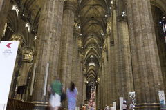 HDR photo Interior of the famous Cathedral Duomo di Milano on piazza in Milan Royalty Free Stock Images