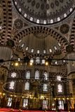 HDR photo of the interior of the Sehzade Mosque in Istanbul Stock Photography