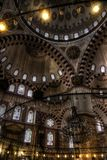 HDR photo of the interior of the Sehzade Mosque in Istanbul Royalty Free Stock Photos