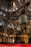 HDR photo of the interior of the Sehzade Mosque in Istanbul Stock Image