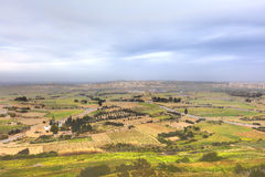 HDR photo of Malta landscape from the top of the historic city Mdina in late afternoon sun.  Royalty Free Stock Image