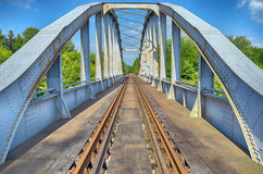 HDR photo of an old rusty railway bridge in Hungary Royalty Free Stock Photos