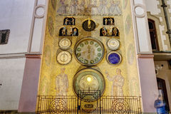 HDR photo of the Olomouc Astronomical clock, Czech republic Royalty Free Stock Photos