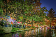 HDR Photo of the Riverwalk in San Antonio Royalty Free Stock Image