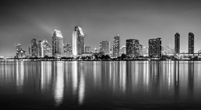 An HDR photo of the skyline of San Diego from the Coronado islan royalty free stock photos