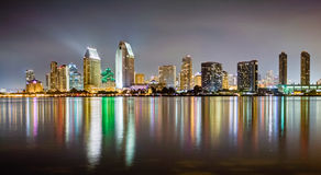 An HDR photo of the skyline of San Diego from the Coronado island. royalty free stock photo