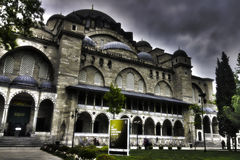 The HDR photo of the Suleymaniye Mosque, Istanbul Stock Images