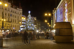 HDR photo of the traditional Christmas markets at Republic square in front of Palladium shopping mall Royalty Free Stock Photo