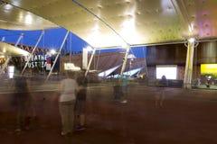 HDR photo of the visitors of Milan Expo at night Royalty Free Stock Photos