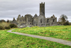 HDR of Quin Abbey Stock Image