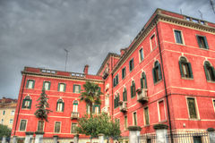 Hdr red building Royalty Free Stock Photo