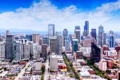HDR Rendering of Seattle Skyline stock photography