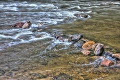 HDR of River Rapids. Stock Images