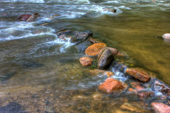 HDR of River Rapids. Royalty Free Stock Photo