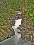 HDR River and Waterfalls. Abstract hdr (tone mapped) waterfalls and stream Royalty Free Stock Photos