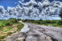 Hdr road Royalty Free Stock Photography