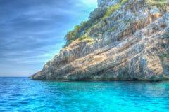 Hdr rocky shore Stock Photos