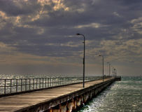 HDR of Rosebud Pier Stock Image