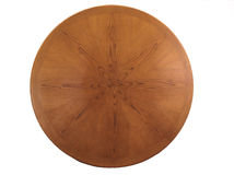 HDR Round wooden shield Royalty Free Stock Image