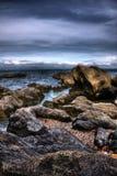 HDR Sea Stone Stock Photo