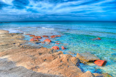 Hdr seashore Royalty Free Stock Photo
