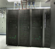 HDR of Server Room Royalty Free Stock Images