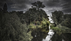 HDR Shot of a Moody River Scene Stock Image
