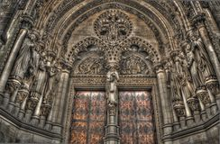 HDR shot of an old cathedral. Viewing up Royalty Free Stock Images