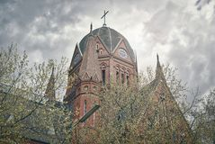 HDR shot of an old church in Berlin Royalty Free Stock Photos