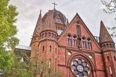 HDR shot of an old church in Berlin Stock Photo