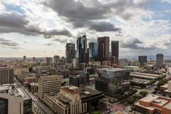 HDR skyline of downtown Los Angeles Stock Image