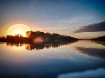Hdr soluppgång Arkivbilder
