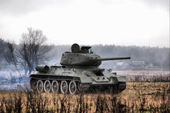 HDR.Soviet tank from the Second World war Royalty Free Stock Photography