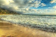 Hdr strand Arkivfoton