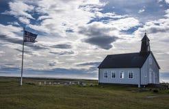 HDR Strandarkirkja, Selvogur, Islandia 2 Fotos de archivo libres de regalías