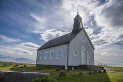 HDR Strandarkirkja, Selvogur, Islandia 3 Imágenes de archivo libres de regalías