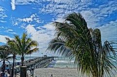 HDR strandplats Royaltyfria Foton